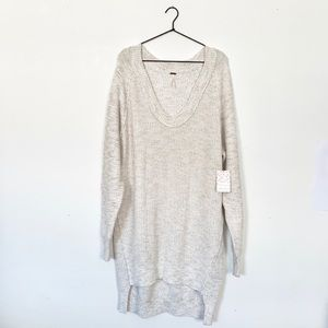 FREE PEOPLE Sunday Scoop Neck Sweater